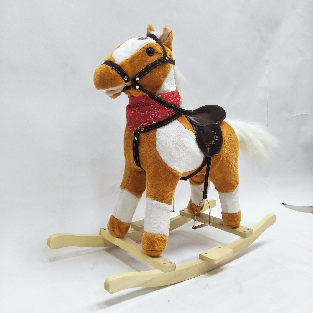 Free Shipping High Quality 3-8 Years Old Wooden Rocking Horses Walking Horse Toys Ride On Horse Toy Chirstmas Gifts For Adult