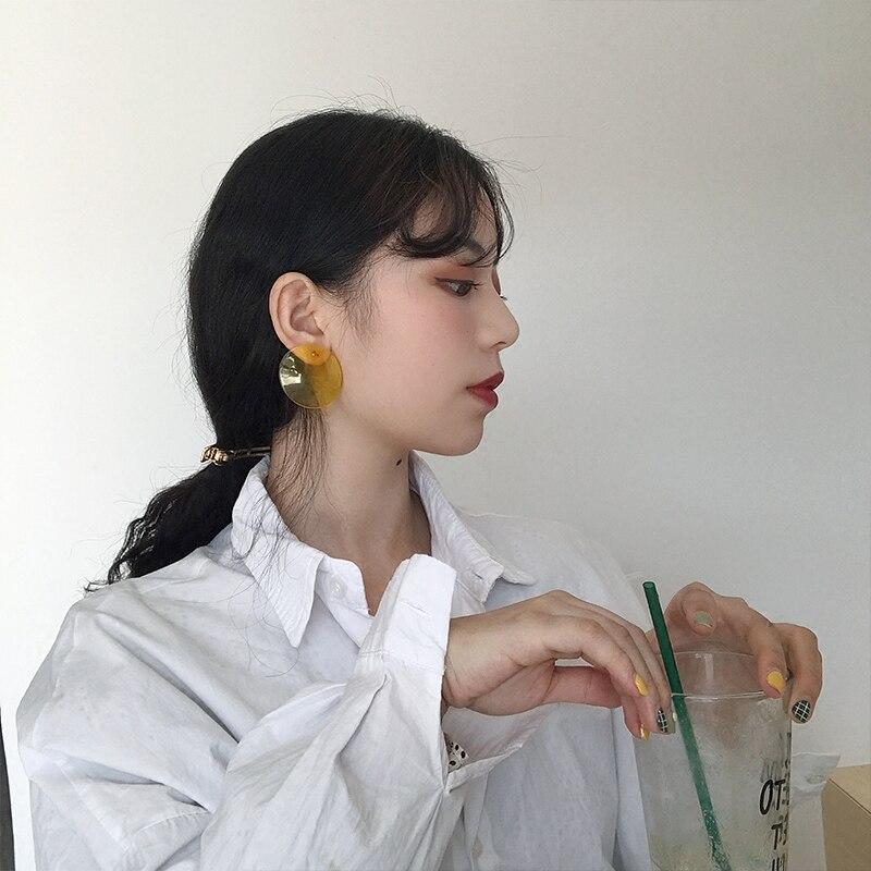Women's Minimalist Style Transparent Geometric Earrings Earrings Jewelry Women Jewelry