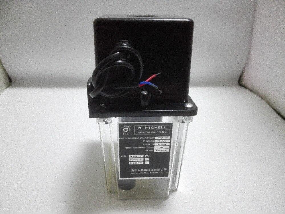 Bomba de aceite de lubricación automática 220VAC 1 litro 1L temporizador electrónico Digital, bomba de lubricación para máquina cnc - 4