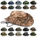 Для мужчин Для женщин Для мужчин спортивные Boonie мыть хлопок твил подбородок шнур Военная камуфляжная шляпа для охоты путешествия Кепки вед...