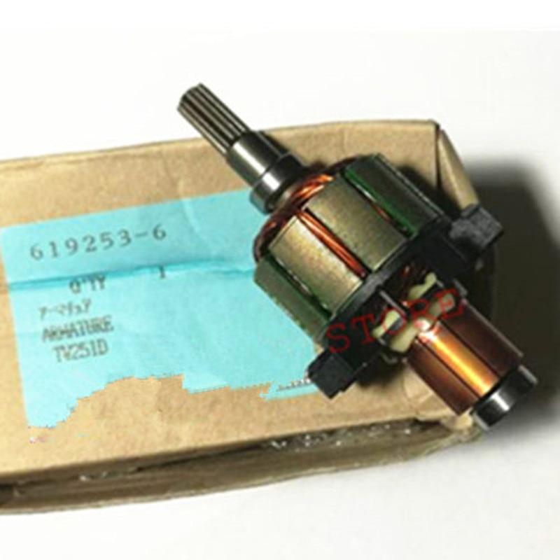 Armatur Rotor pour MAKITA BTW250 DTW251RFE DTW251Z 619253-6 6191946 BTW251Z BTW251RFE DTW251 BTW253 BTW251 BTS130 DTW251Z DTW 251