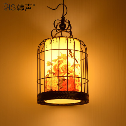 American country industrial iron loft retro cafe bar cage light creative modern minimalist dining room Pendant Lights цена и фото