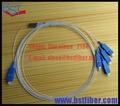 1x4 PLC Splitter, Mini Tubo de Acero SC/UPC, SM, 0.9mm-Para OLT, mejor Calidad