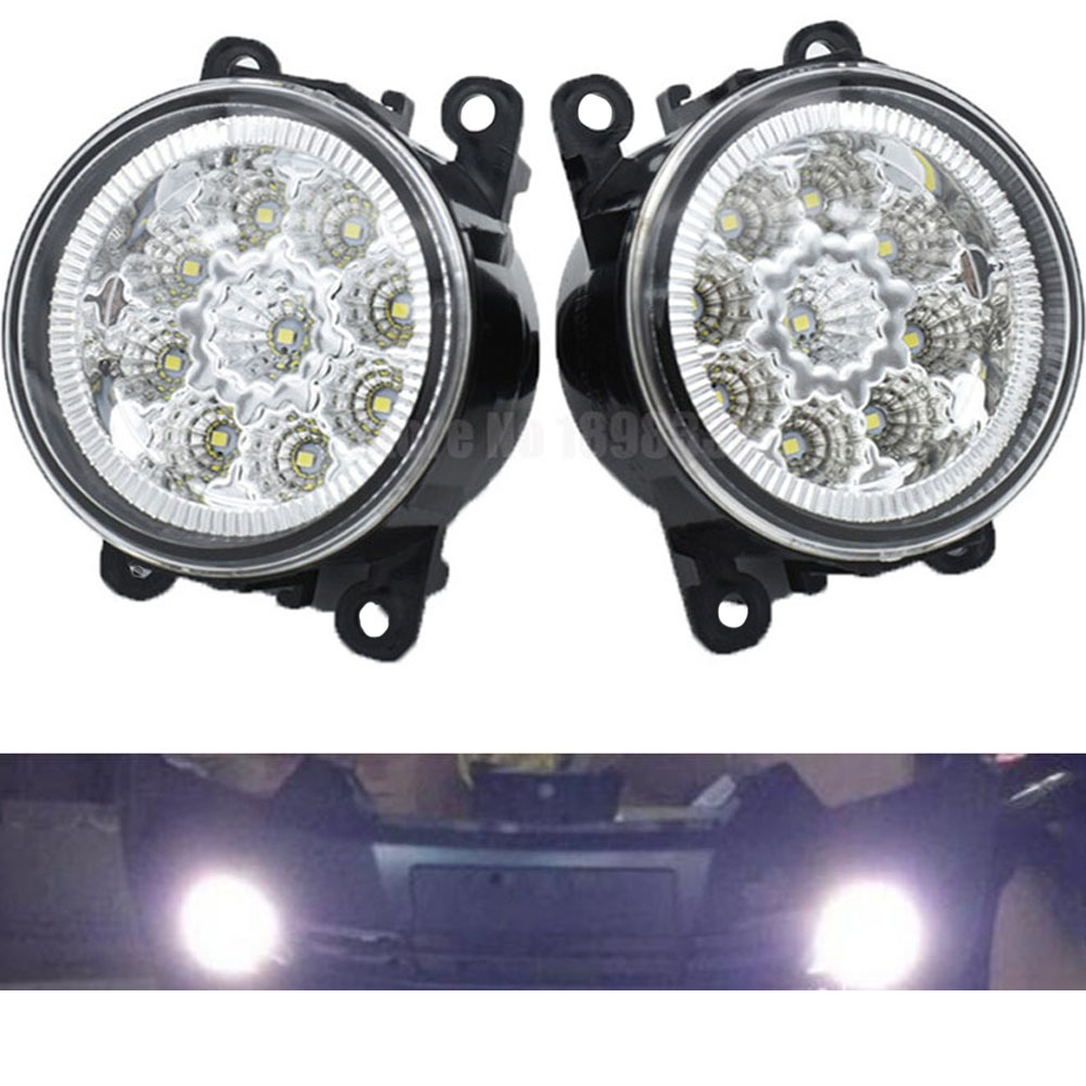2pc Car Styling Halogen/LED Fog Lights Fog Lamps For Subaru Outback 2010-2012 Round Bumper DRL Daytime Running Driving
