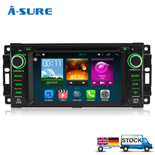 A-Sure Android 5.1 DVD GPS for Jeep Grand Cherokee Wrangler Compass Patriot Commander Liberty Steer wheel control Radio Player