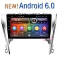 Frete grátis Quad Core 10.2 polegada de tela HD Android 6.0 Carro DVD GPS Multimídia Para Toyota toyota camry 50 2012 2013 2014