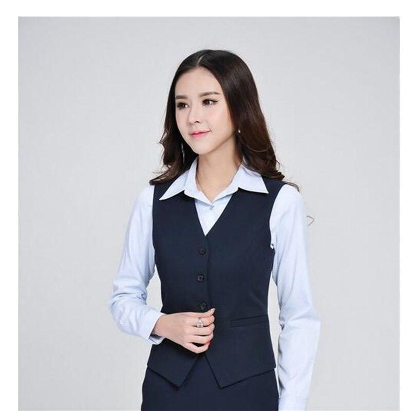 ca795233 US $84.6 6% OFF|Spodnie damskie garnitury formalne kobiety garnitury  biurowe z spodnie + marynarka + kamizelka 3 sztuka zestaw moda panie urząd  pracy ...