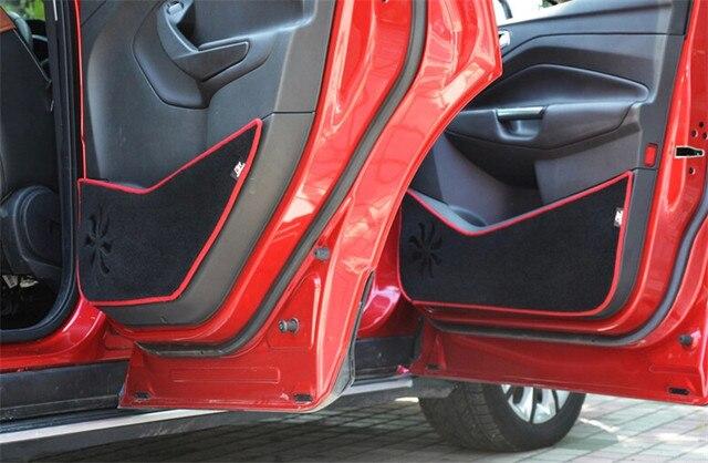 Car Door Protection Mat Anti-kick Pad Decorative Fit For ESCAPE KUGA 2013 2014 2015  4pcs per set