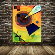 Wassily Kandinsky Oil Painting Classic Cansva Art Wall Poster And Sticker Handmade for Living Room Bedroom Decor