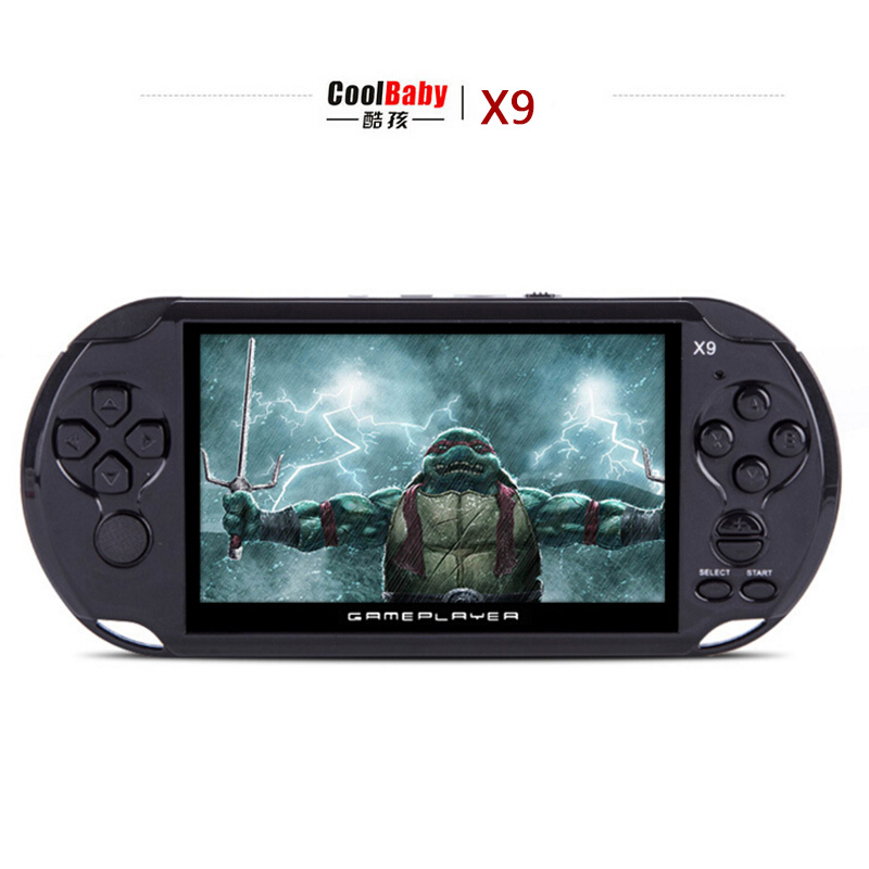 8GB 5.0″ Large Screen Handheld Game Consoles Built-in 300 Classic NES Games With MP3/ Movie Camera Adult Vedio Games Console