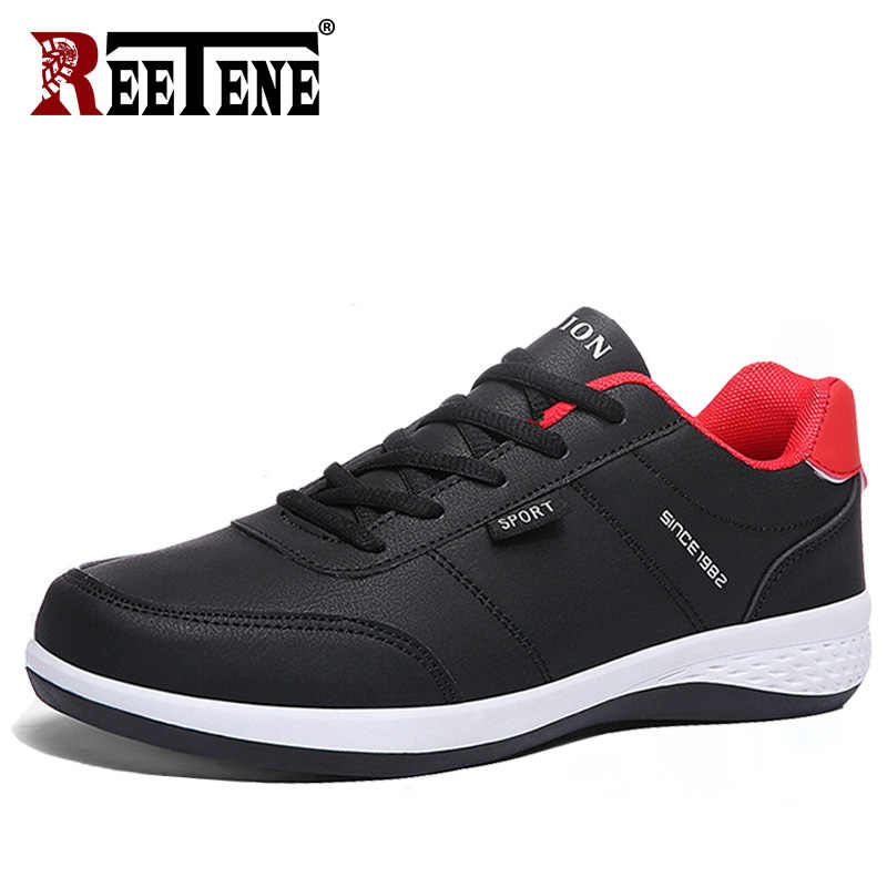 REETENE 2019 Spring Autumn Men Sneakers Large Size Fashion Sports Men's Shoes Casual Shoes Men Running Lace Up Men Shoes