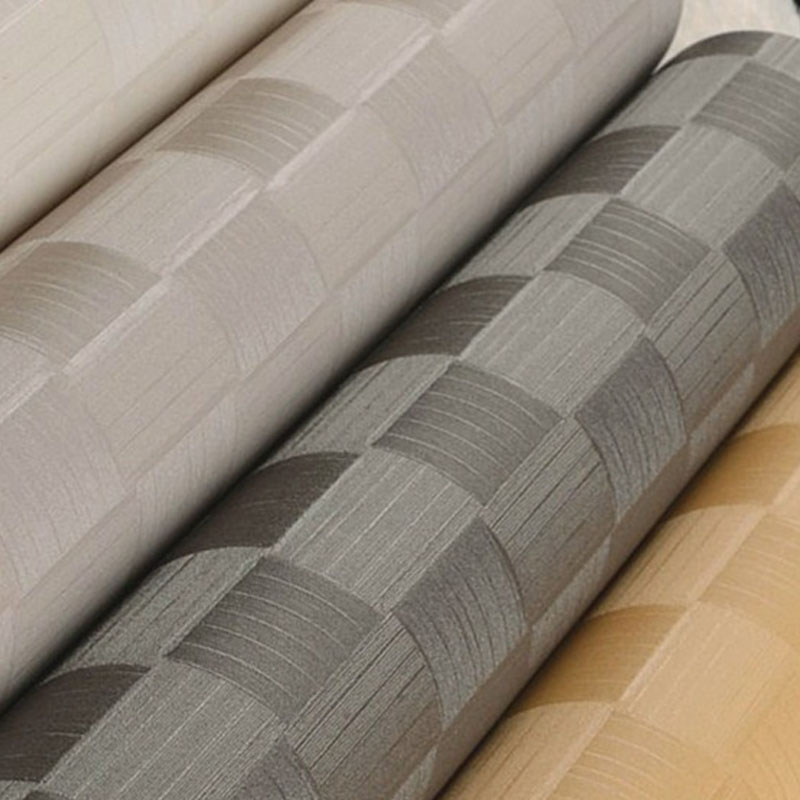 ФОТО Modern Plaid Wallpaper Roll Grey Wall Paper for Walls PVC Waterproof Grid Wallpaper Living Room 3D Wall Murals Wallpaper
