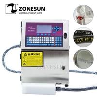 ZONESUN автоматический струйный принтер дате номер партии qr код Еда Упаковка Сумка провод в оплетке банок матричный кодирования печатная маши
