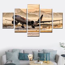HD Printing Canvas 5 Piece Plane Take Off Painting Airplane Airport Picture Nordic Poster Home Decor Living Room Wall Art Frame