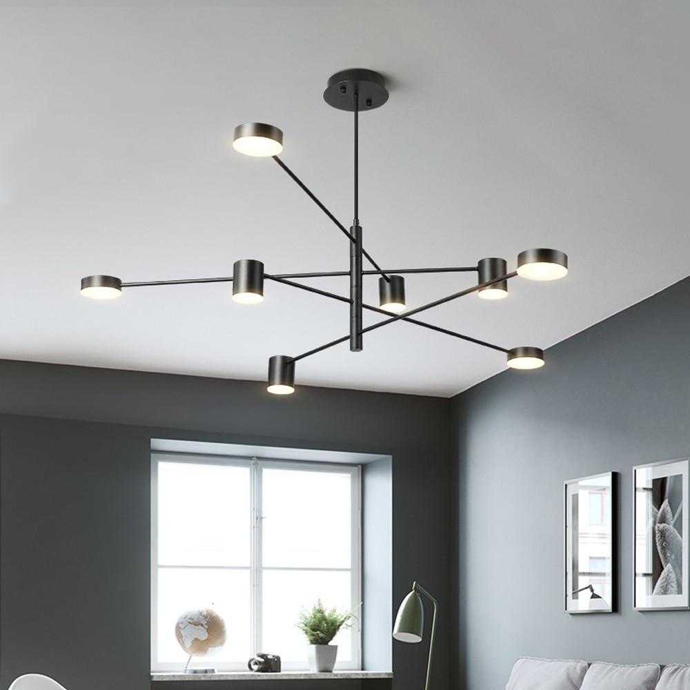 Современные светодио дный светодиодные люстры потолок Nordic кулон Крытый лампы для мотоциклов для гостиная ресторан спальня люстра освещени...