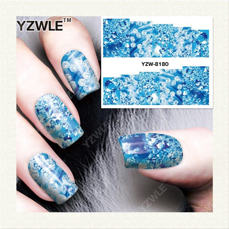 YZWLE 1 Sheet DIY Decals Nails Art Water Transfer Printing