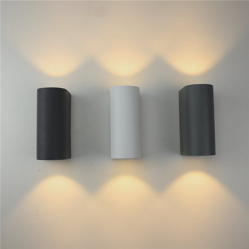Modern led wall lights Cylinder COB 6W LED Wall Light IP65 Waterproof AC85-265V Corridor Lights decoration wall lamp ZBD0084 new 120degree waterproof cube cob led light wall lamp modern home lighting decoration outdoor wall lamp aluminum 6w ac85 265v