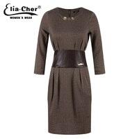 여성 드레스 겨울 드레스 Eliacher 브랜드 플러스 사이즈 긴 소매 중국 이브닝 파티 튜닉 드레스 vestidos