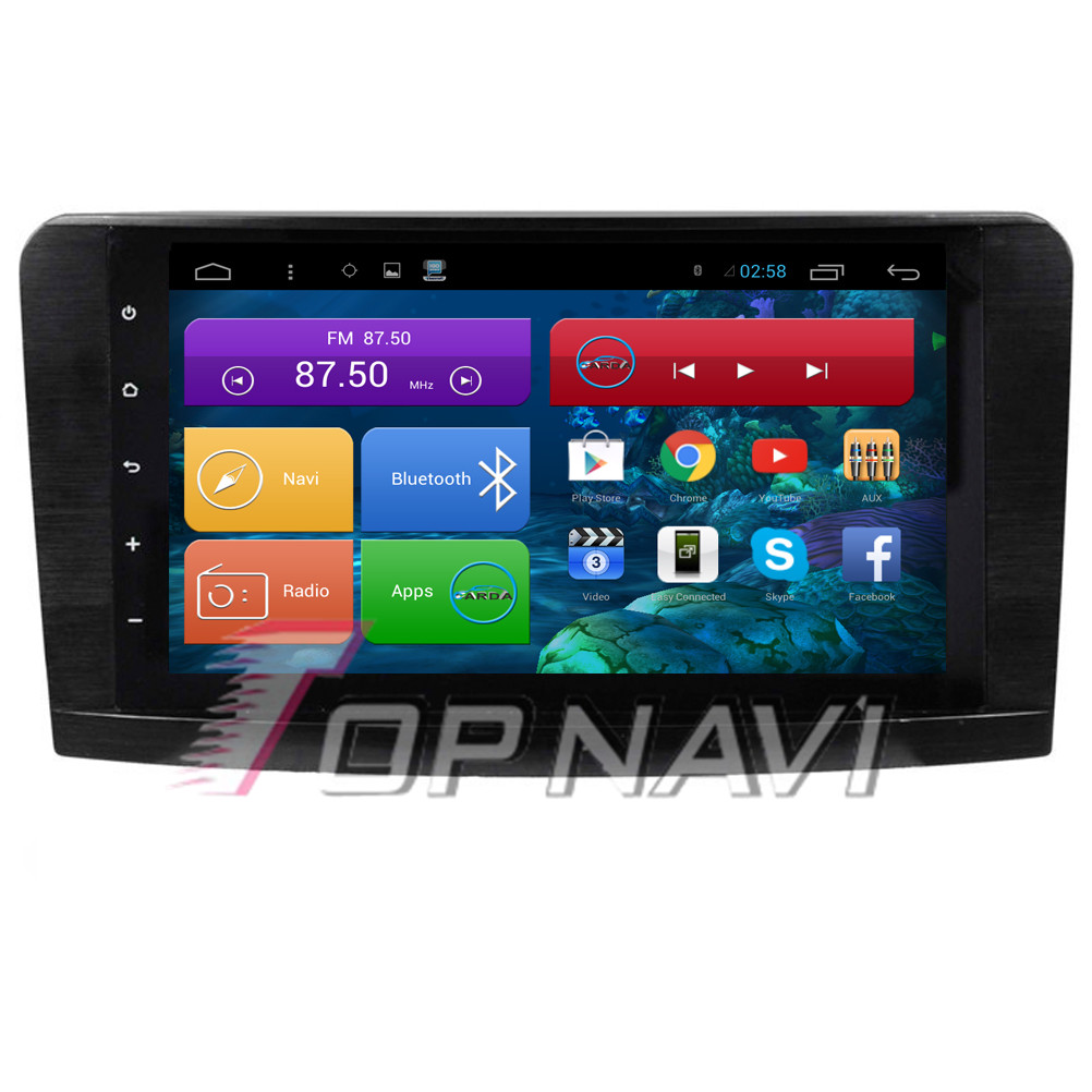 Quad Core Android 4.4 Car Radio for ML GL W164(2005 2006 2007 2008 2009 2010 2011 2012)For Benz With Mirror Link Map 16GB Flash