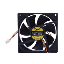 3 Pin 90mm 25mm Cooler Fan Heatsink Cooling Radiator For Computer PC CPU 12V centechia mini 55mm 2 pin graphics cards cooling fan aluminum gold heatsink cooler fit for pc computer cpu vga video card