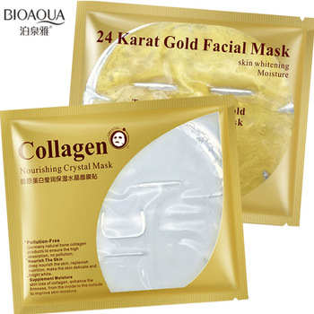 BIOAQUA 24 Karat Gold Whitening Collagen Nourishing Crystal Mask Face Mask Face Skin Care  face mask