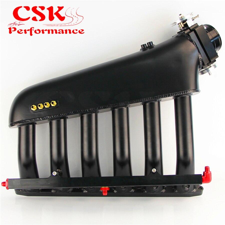 Image 4 - Czarny kolektora dolotowego + korpus przepustnicy + magistrala paliwowa zestawy pasuje do BMW E36 E46 M50 M52 M54 325i 328i 323i M3 Z3 E39 528iKolektor dolotowy   -