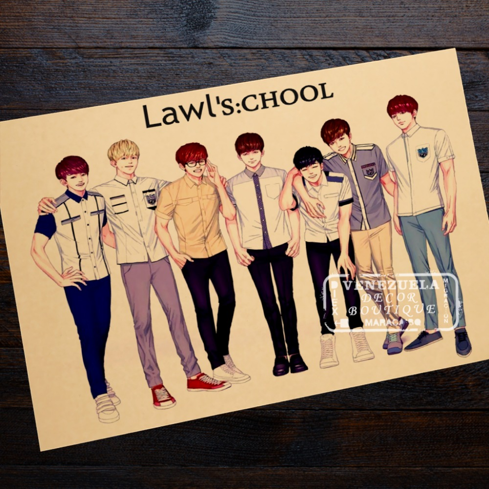 Law School Anime Comics Edition Of BTS Classic Photo