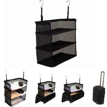 3 Layers Portable Travel Storage Bag Hook Hanging Nylon Mesh Bag Storage Organizer Wardrobe Clothes Shoes Storage Rack Holder kreg corner clamp