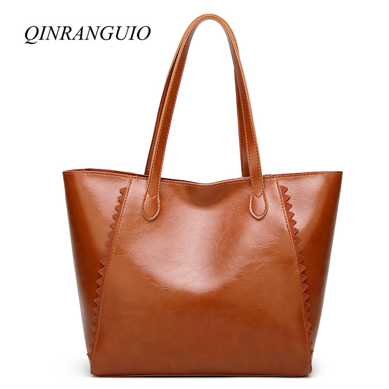 Cheap Women Leather Handbags Large Capacity