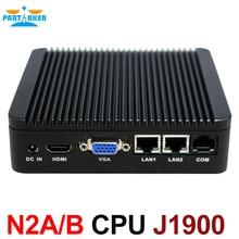 Двойные NIC 4 ядра Мини-ПК J1900 с Intel Celeron J1900 2.0 ГГц Процессор HDMI VGA Порты LAN