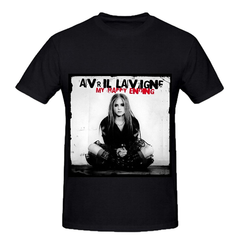 Gt86 design t shirts men s t shirt - Gildan Round Neck T Shirt Avril Lavigne My Happy Ending Rock Album Cover Mens Crew