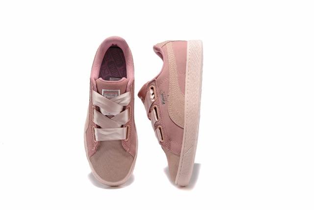 Rihanna X Puma Fenty Women s Bow Trinomic Sneakers shoes pink purple  bow  ties Badminton Shoes size 36-39 162ddea3ac60