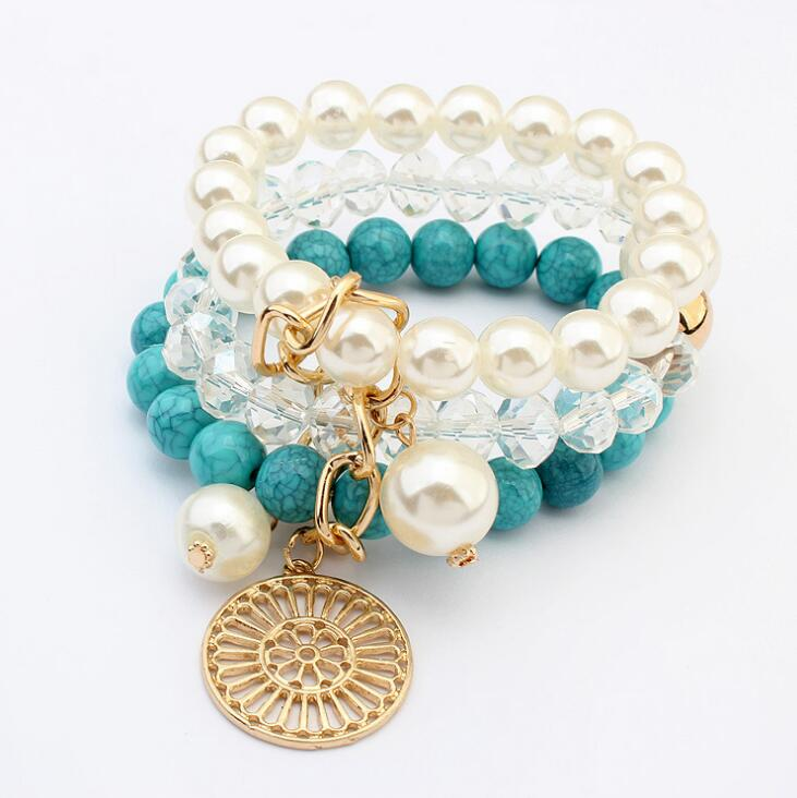 Poem snow Summer Handwear Fashion Atmospheric Disc Bracelet