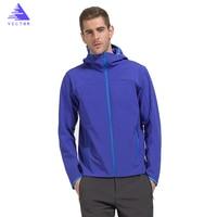 Softshell Jacket Windbreak Collar Men Polar Fleece Warm Windproof Waterproof Camping Hiking Outdoor Sports Spring Autum Winter