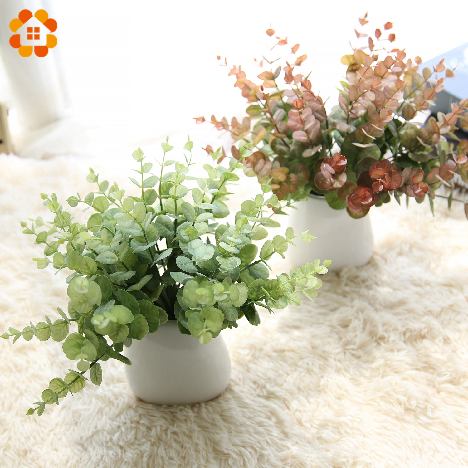 Artificial Decorations Artificial & Dried Flowers Fake Grass Rattan Classic Green Home Plastic Diy Simulation Plant Garden Party Selected Material