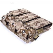 лучшая цена Genuine FLYYE MOLLE  Triple M4M16 Magazine Pouch Ver.V1 In stock Military camping modular combat CORDURA M003