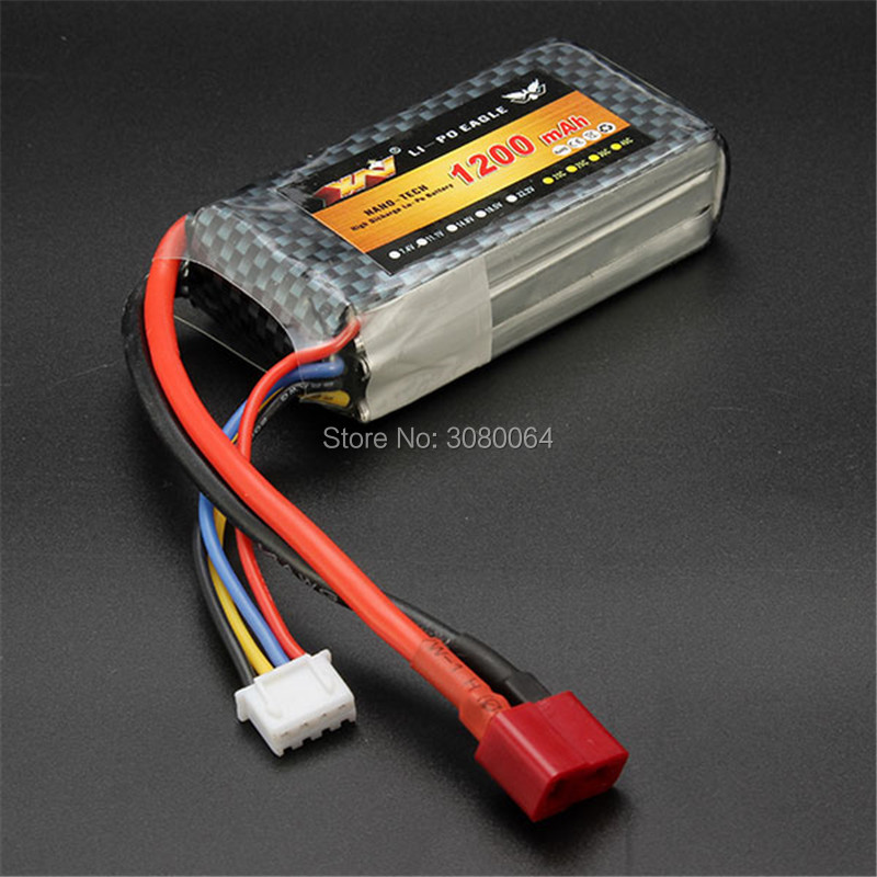 High Quality RC Battery 11.1V 1200mAh 25C 3S 11.1Volt RC LiPo Li-Poly Battery for Helicopters Quadcopter RC drone 2pcs high quality 4s full 5400mah 14 8v 79 92wh replacement lipo battery for yuneec typhoon h drone rc quadcopter