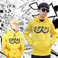 Anime One Punch Man Saitama Oppai Yellow Hoodie Sweatshirts Hooded Jacket Coat Cosplay Costumes Free Shipping
