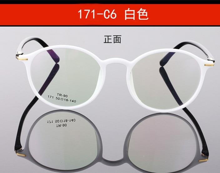 Vintage Brand Design Plain Men Women Glasses Round Eyeglasses Optical Frame Retro Ultra light TR90 glasses optical frame K171 in Men 39 s Eyewear Frames from Apparel Accessories