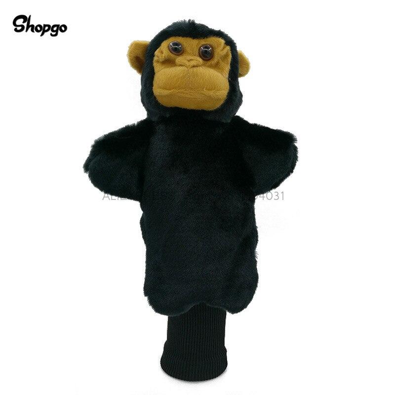 Little Black Monkey Golf Head Cover Fairway Woods & Hybrid Rescue Animal Golf Clubs Headcover Mascot Novelty Cute Gift