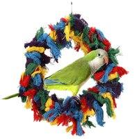 1 stücke Vogel Spielzeug Große Baumwolle Ring Seile Bunte Haustier Vogel Papagei Hammock Schaukel Spielzeug Hängen Pet Produkte Vogel Lieferungen