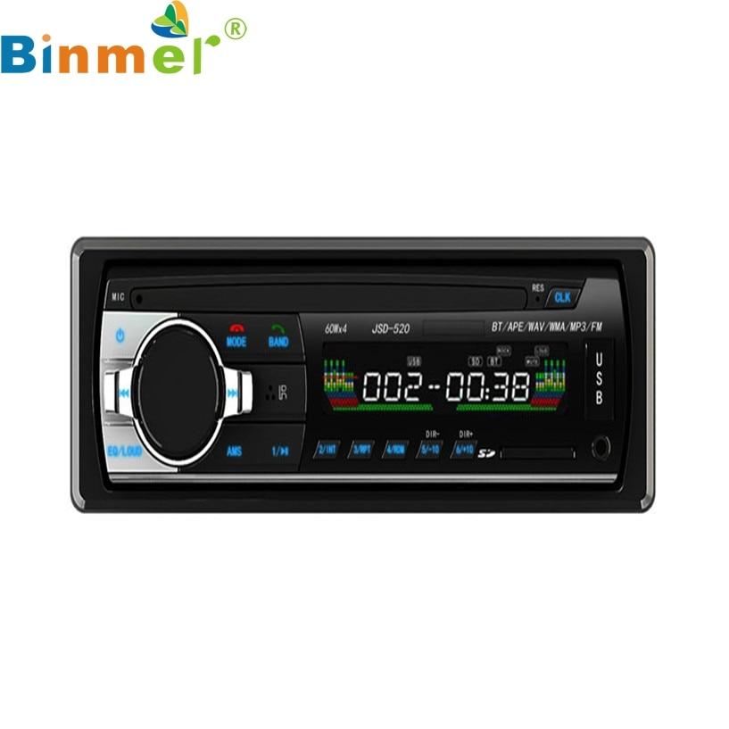 Binmer Mecall Bluetooth Car Stereo Audio CD In Dash FM Aux Input Receiver SD USB MP3