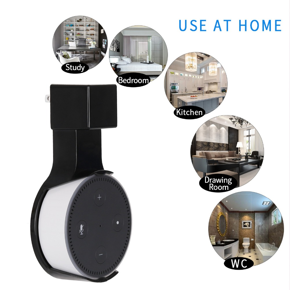 Smart audio accessories Smart speaker power adapter wall stand holder for Amazon Echo Dot 2 home bedroom bathroom WC darwingroom