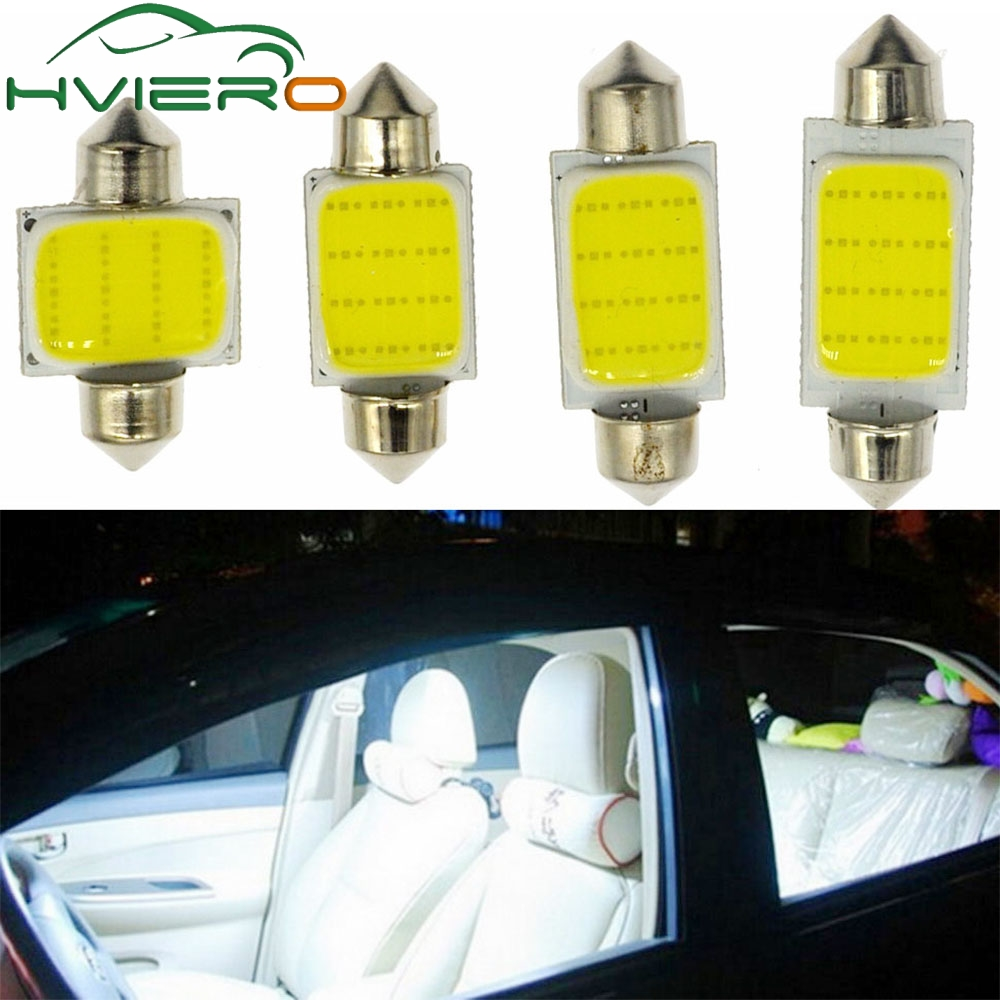 2Pcs 12SMD White Cob Festoon Dome Lights Reading Lamp 31mm 36mm 39mm 42mm 3w Car Led Interior Lights Bulbs Interior DC 12v бермуды