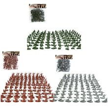 100pcs/set Military Soldiers Model 12 Types Army Mini Action Figure Sandbox Game Toy Soldier Figures Playset Model Toys For Kids children s 28pcs set medieval knights warriors horses kids toy soldiers figures static model playset playing on sand castles