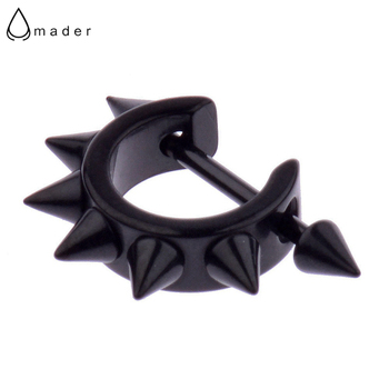 Amader 1 Pcs Punk Mens Women Stainless Steel Hoop Novel Sharp Ear Black Stud Earrings Gothic.jpg 350x350 - Amader 1 Pcs Punk Mens Women Stainless Steel Hoop Novel Sharp Ear Black Stud Earrings Gothic Black Earrings