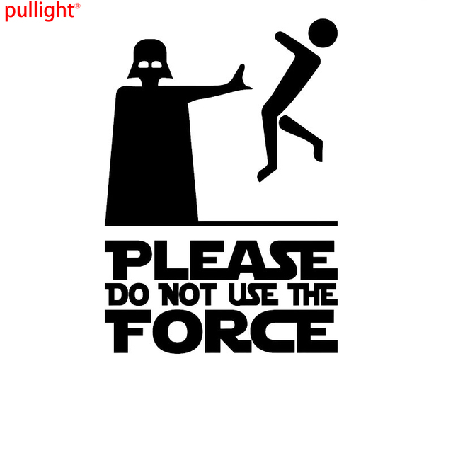 Please do not use the force vinyl decal sticker star wars vader motorcycle suvs bumper
