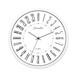 Image 3 - Newest 24 Hour Dial Design 2 Living Room 12 Inches Step Metal Frame Modern Fashion Decorative Round Wall clock