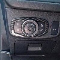 Für Ford Fiesta MK8 2017 2018 2019 ABS Matte/Carbon faser Auto Scheinwerfer Einstellung Schalter Abdeckung Trim Auto zubehör styling-in Innenformteile aus Kraftfahrzeuge und Motorräder bei