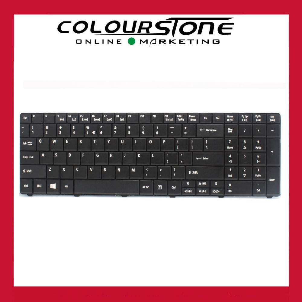 10pcs/ lot US Laptop Keyboard For Acer E1-571 E1-531 E1-521 E1-571G E1-531G series LAPTOP KEYBOARD Black keyboard new for sony vgn fj series laptop us keyboard 147951221 black